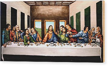 The Last Supper Wood Print by Todd Spaur