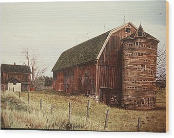 The Last Wooden Silo Wood Print