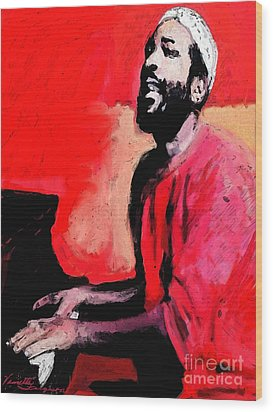 The Late Great Marvin Gaye Wood Print by Vannetta Ferguson