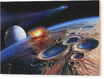 The Late Heavy Bombardment Wood Print by Don Dixon
