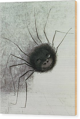 The Laughing Spider Wood Print by Odilon Redon
