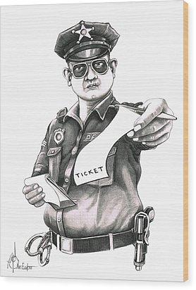 The Law Wood Print by Murphy Elliott