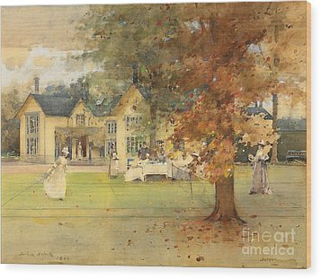 The Lawn Tennis Party Wood Print by Arthur Melville
