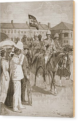 The Leader Of The Allies, Illustration Wood Print by Ernest Prater