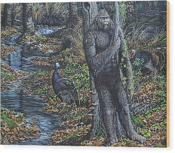 The Legend Of Gobble Creek Wood Print
