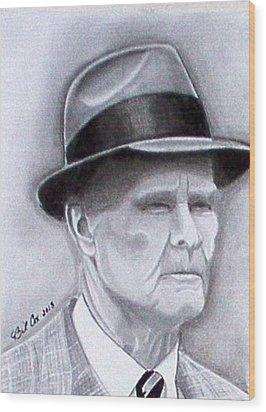 The Legend Tom Landry Wood Print by William Cox