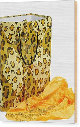 The Leopard Gift Bag Wood Print by Diana Angstadt
