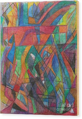 The Letter Dalet 2 Wood Print by David Baruch Wolk