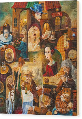 Wood Print featuring the painting The Letter by Igor Postash