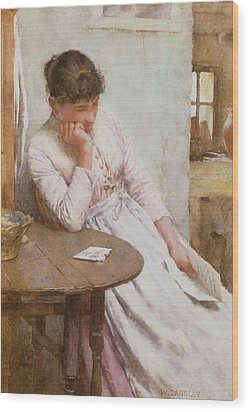 The Letter  Wood Print by Walter Langley