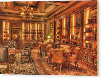 The Library Wood Print by Heidi Smith