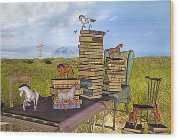 The Library Your Local Treasure Wood Print by Betsy Knapp