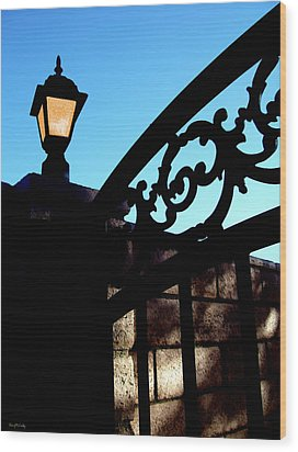 The Light And The Gate Wood Print by Glenn McCarthy Art and Photography