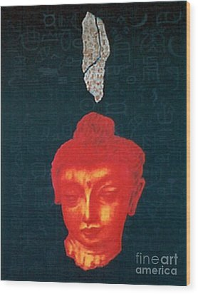 Wood Print featuring the painting The Light Of Face_ Sold by Fei A