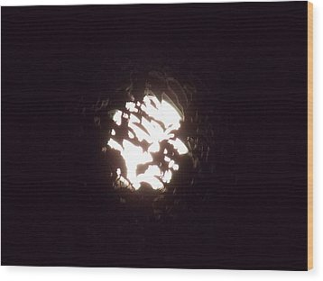 The Light Shining Through A Dark World Wood Print