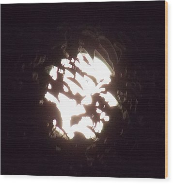 The Light Shining Through A Dark World Pt2 Wood Print