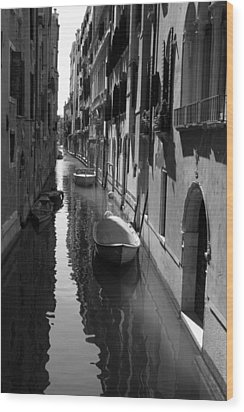 The Light - Venice Wood Print by Lisa Parrish