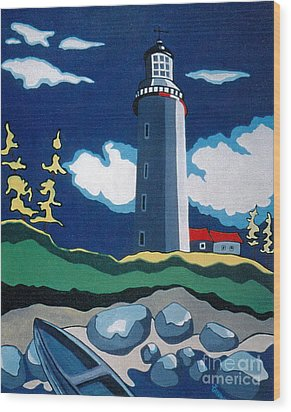 The Lighthhouse Wood Print by Joyce Gebauer
