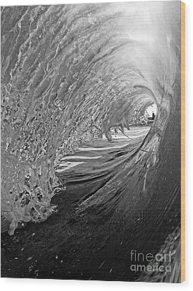 The Lighthouse At The End Of The Tunnel Wood Print