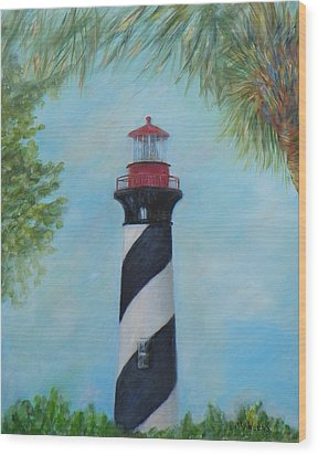 The Lighthouse In St. Augustine Florida Wood Print