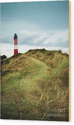 the lighthouse of Hoernum Wood Print by Hannes Cmarits