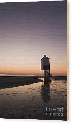 The Lighthouse On Legs Wood Print by Anne Gilbert