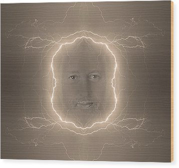 The Lightning Man Sepia Wood Print by James BO  Insogna