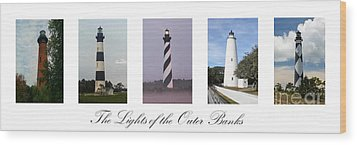 The Lights Of The Outer Banks Wood Print by Tony Cooper