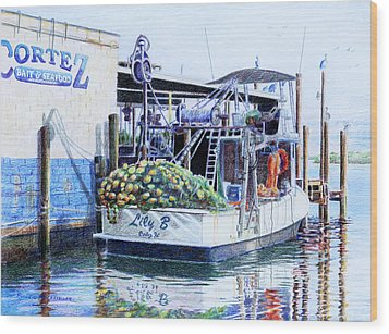 Wood Print featuring the painting The Lily B by Roger Rockefeller