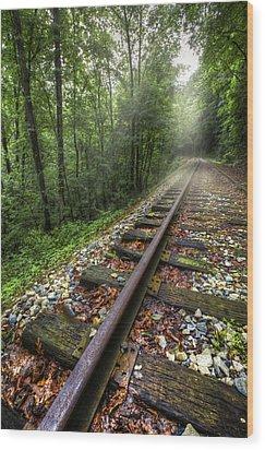 The Line Wood Print by Debra and Dave Vanderlaan