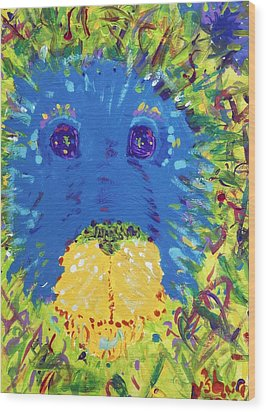Wood Print featuring the painting The Lion Blooms In Springtime by Yshua The Painter