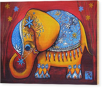 The Littlest Elephant Wood Print by Karin Taylor