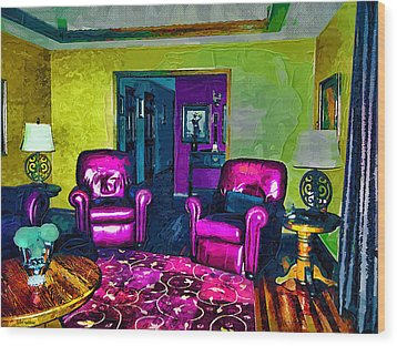 Wood Print featuring the painting The Living Room by Tyler Robbins
