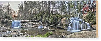 The Living Waters Wood Print by Donnie Smith