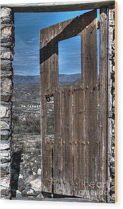 The Lockless Door Wood Print by Heiko Koehrer-Wagner