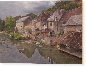 The Loir River Wood Print by Debra and Dave Vanderlaan