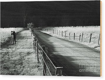 The Lone Photographer Wood Print by Douglas Stucky