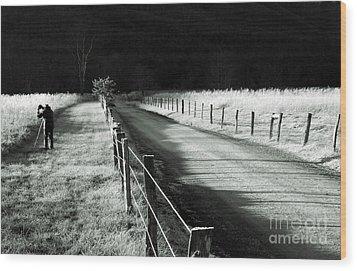 The Lone Photographer Wood Print
