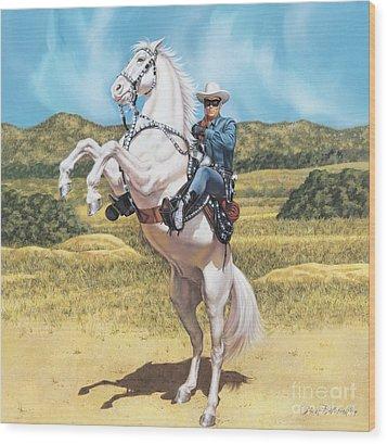 The Lone Ranger Wood Print
