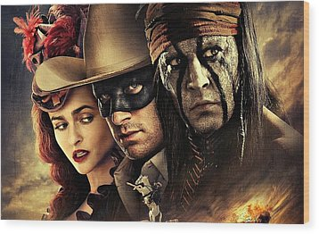 The Lone Ranger Wood Print by Movie Poster Prints
