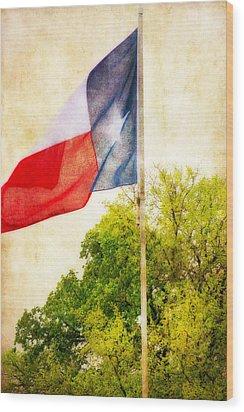 The Lone Star Flag Wood Print by Joan Bertucci