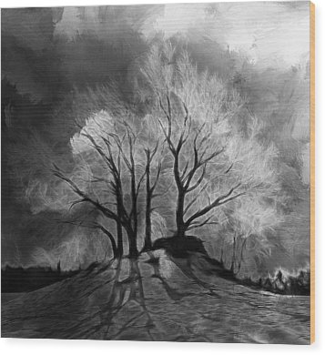 The Lonely Grave Wood Print by Steve K