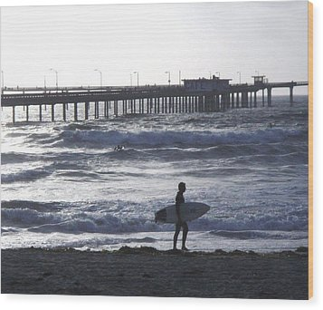 The Lonely Surfer  Wood Print