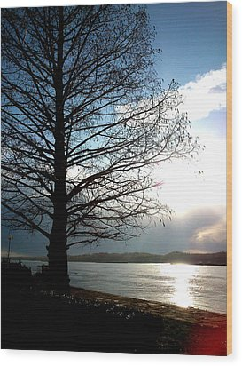 The Lonely Tree Wood Print by Lucy D