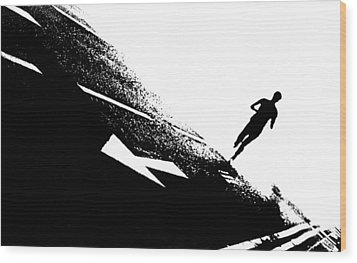 The Long Distance Runner Wood Print