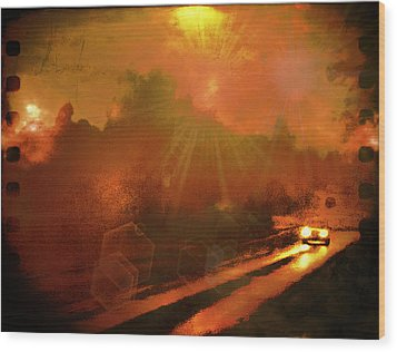 Wood Print featuring the photograph The Long Road Home  by Fine Art By Andrew David