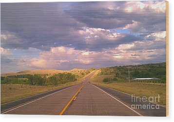 The Long Road Home Wood Print by Chris Tarpening