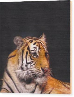 The Look Wood Print by Nur Roy