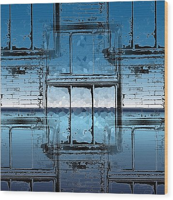 The Looking Glass Reprised Wood Print by Tim Allen