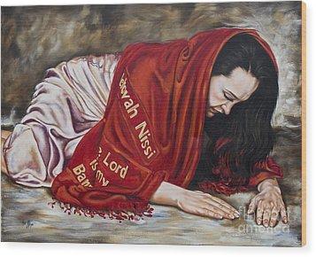 The Lord Is My Banner Yahweh Nissi Wood Print by Ilse Kleyn